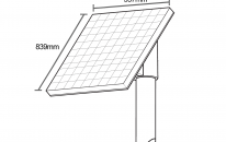50w solar panel set