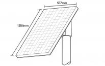 80w solar panel set