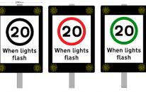20mph when lights flash