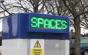 Car park Spaces sign
